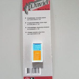 reseerve mesjes voor David schaafje
